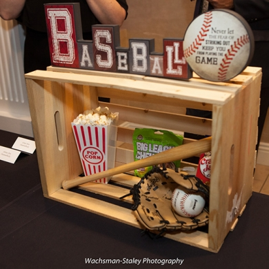 sports themed bar mitzvah-baseball-decorations